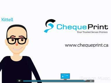 Cheque Print Motion Graphics