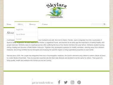 Skylara - Essential Oil's Ecommerce Site