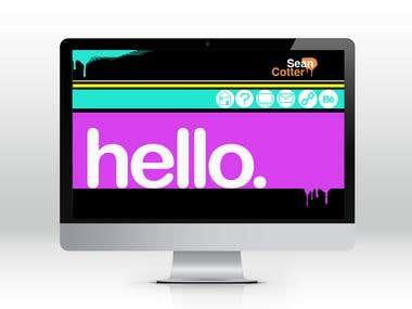 Home page website mock up