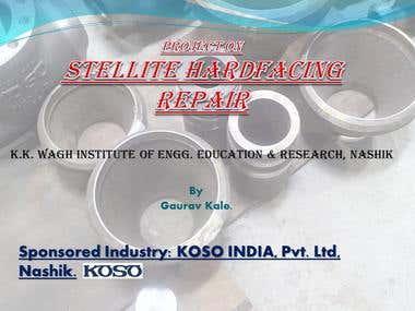Presentation on Stellite Hardfacing Repair