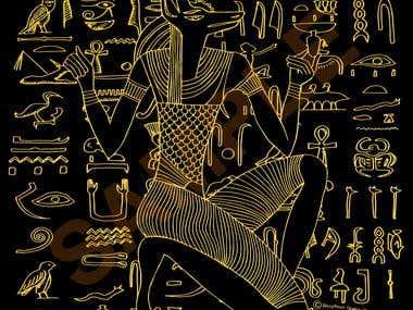 Egyptian Inspired Designs in Bronze