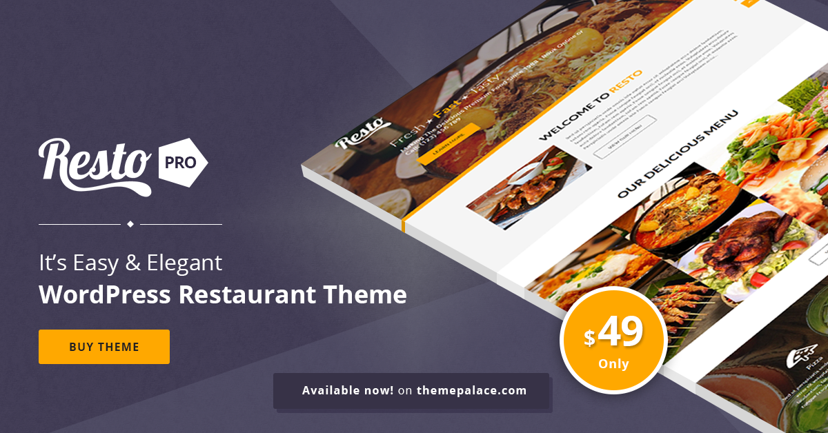 Resto Pro | Perfect WordPress Theme for Restaurants