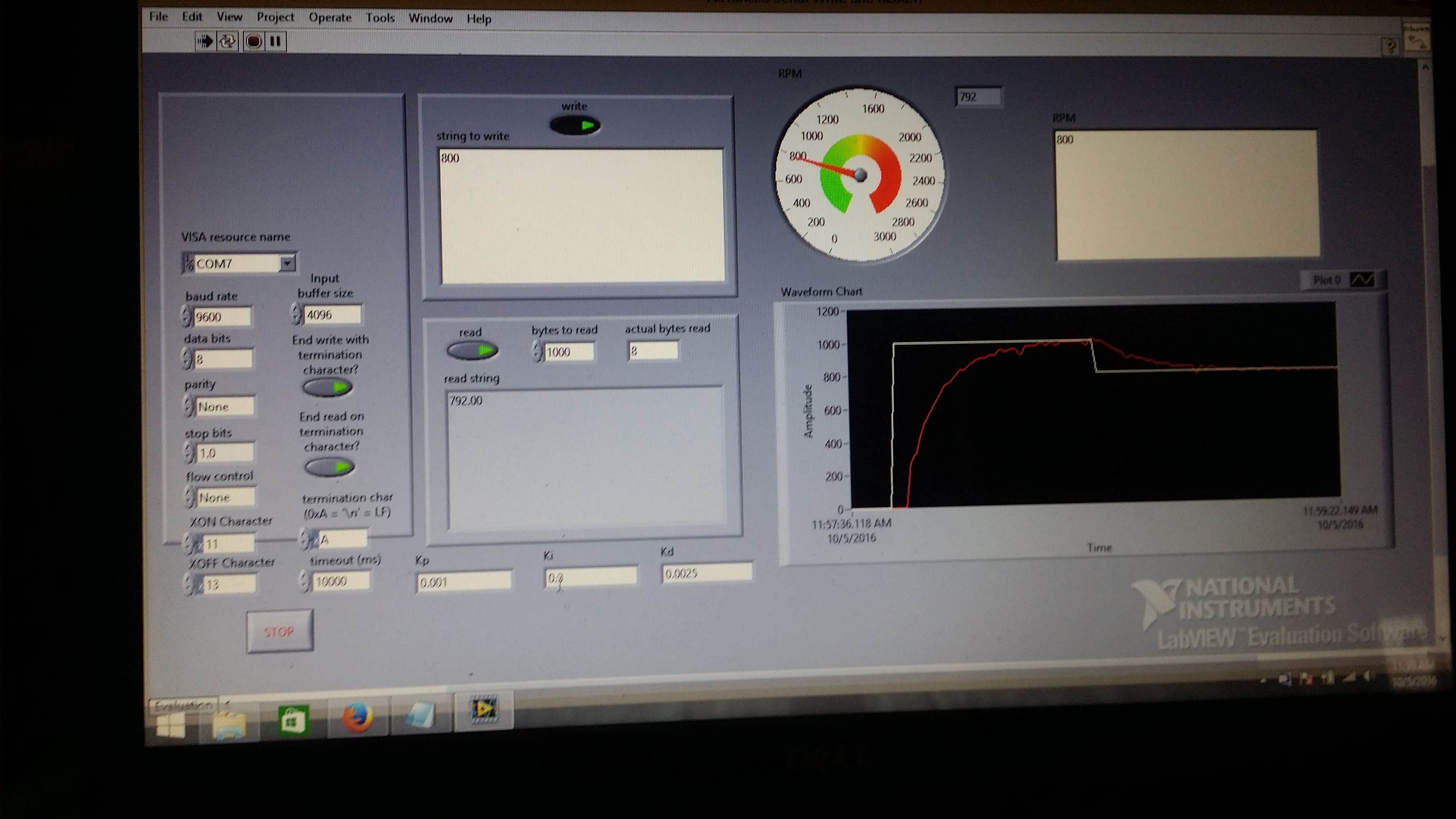 PID Motor Speed Control LAbview+Arduino