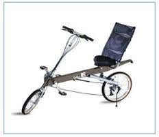 Cost efficient laid back bicycle