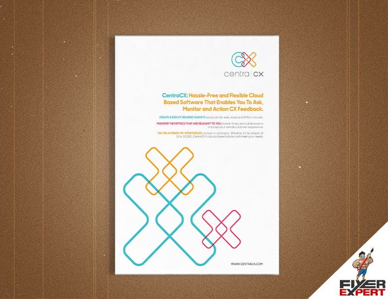 I can design a professional 8XA4 pages Brochure