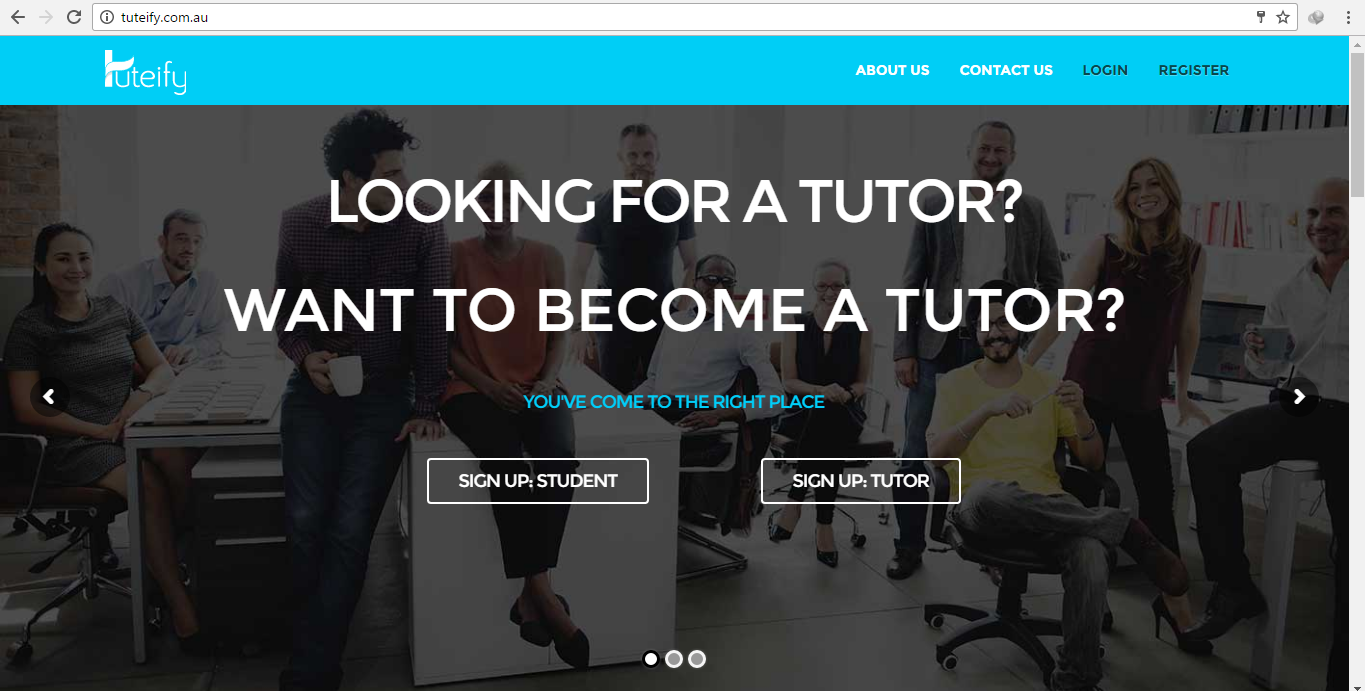 Tuteify- A Tutoring Webstite