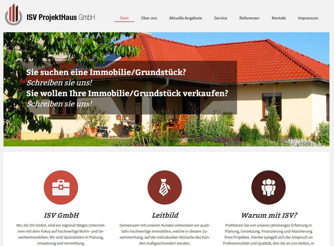 Website auf WP erstellt