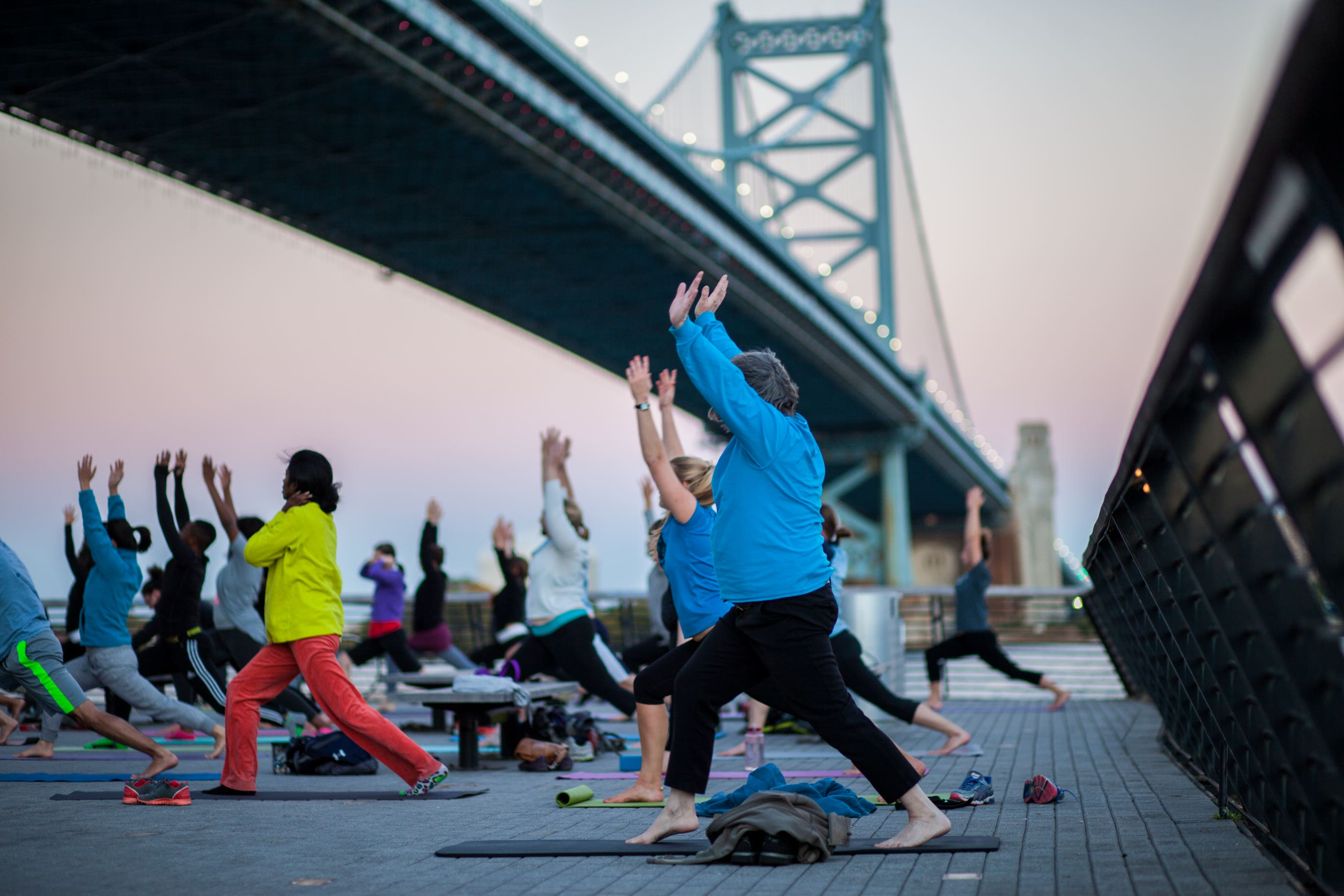 Yoga at Race Street Pier