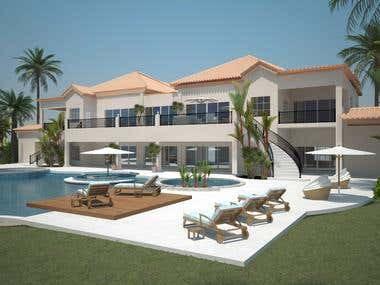 Modelling and Rendering Oasis Spa and Resort