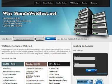 Automatic Webhost Website (http://simplewebhost.net/)