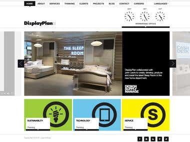 Corporate website of the British company