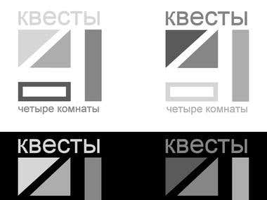 "Logo design for agency ""4комнаты"""