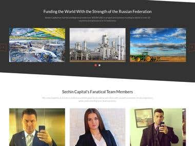 WordPress most recent project: http://www.sechincapital.com/