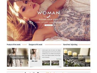 Fashion Website - StandRed