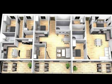 3d enterior design and rendering