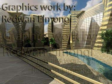 commercial building _ CGI task _ designs owned by others.