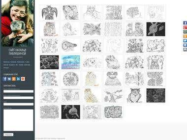 Сайт-галерея художника