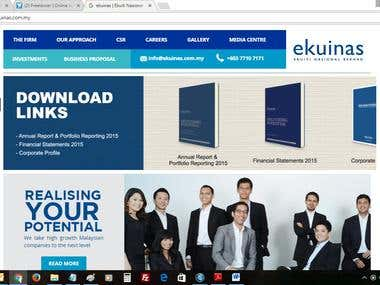 Ekuinas Website