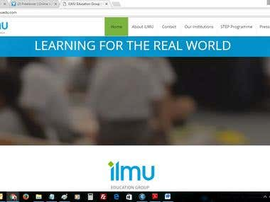 ILMU Education Website