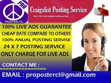 Craigslist ADS Banner