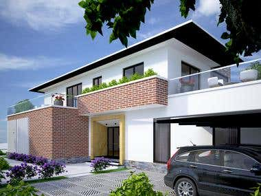 Exterior modeling and rendering