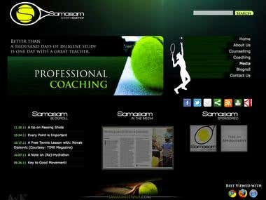 Samasam Tennis Website Design