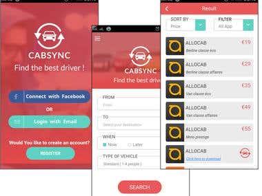 Cab Aggregator Ionic App