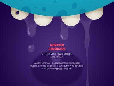 Website design to create your own monster