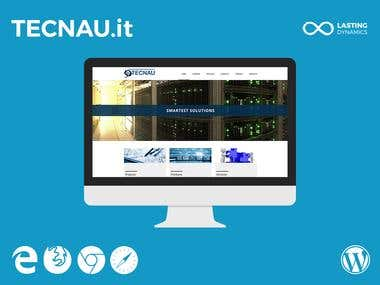 Tecnau.it - Wordpress Website