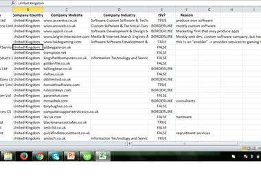 Data Entry / web research
