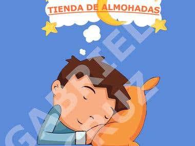 Logo de teienda para almohadas