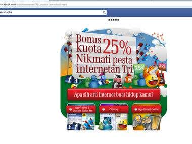 Tri (3) 25% Bonus Quota Facebook Application