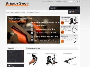 webshop made in Prestashop