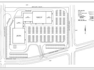 Site plan - parking lot