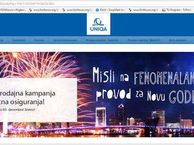 Sales Portal for UNIQA Insurance, Bosnia and Herzegovina