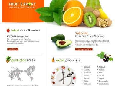 Fruits webpage