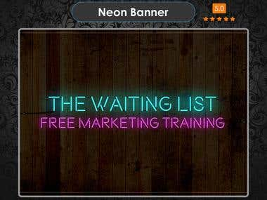 Neon Banner design