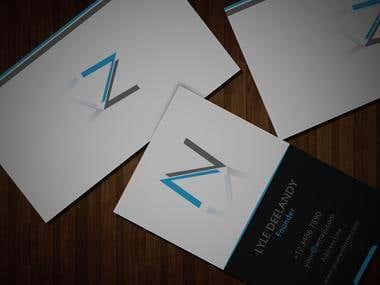 Vertical Business Card Clean design