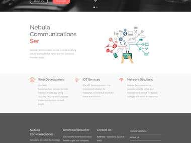 Nebula Communications Website