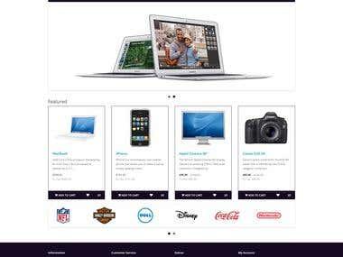 E-commerce website - Amass Technology