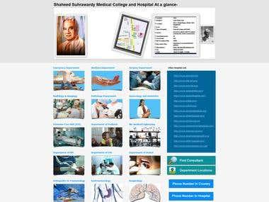 A Govt. Medical Hospital  Website