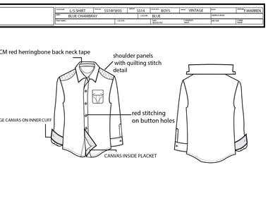 Example of Technical Garment CAD
