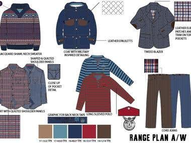 Fashion Design Range Plan