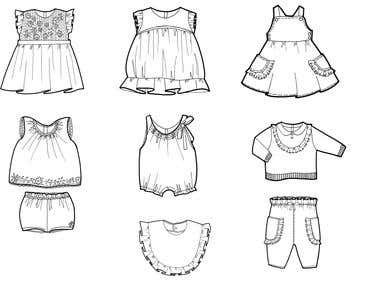 Examples of Hand Sketching for Fashion Design