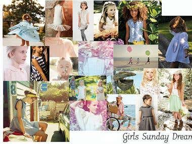 Girls Fashion Design Moodboard Example
