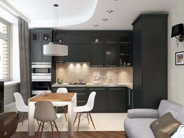redevelopment of one-bedroom apartment