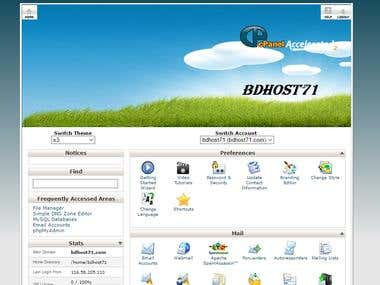 Castom Cpanel Main Page