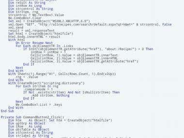 Web Scraping   Web Crawling   VBA Developer