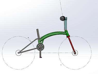 Electric Bicyle in Solidworks design
