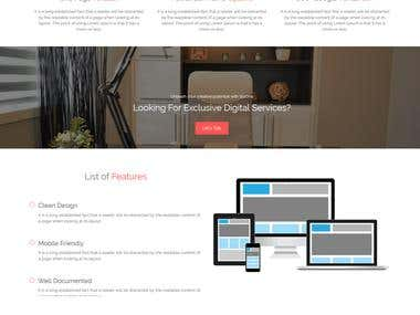 Bootstrap One Page Parallax WordPress Theme
